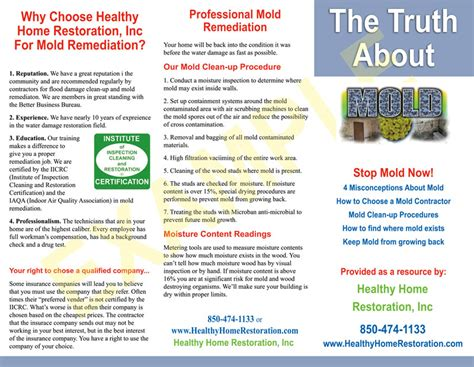 carpet cleaning tile cleaning water damage brochures