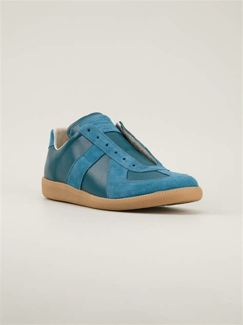 maison martin margiela sneakers maison martin margiela low top sneakers in blue for lyst