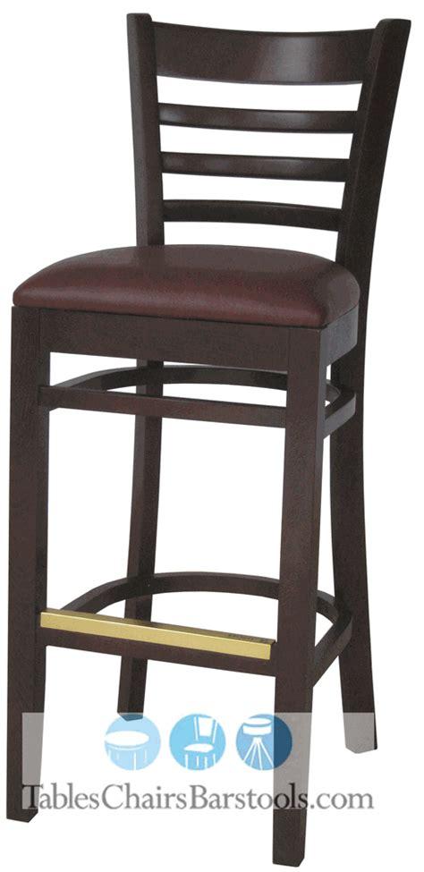 Gladiator Commercial Bar Stools by Gladiator Commercial Wooden Walnut Ladder Back Restaurant