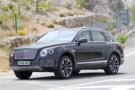 bentley bentayga bentley bentayga in hybrid spyshots by car magazine