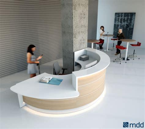 round office desk valde countertop round reception desk canadian oak by mdd