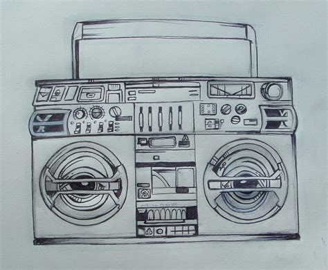 stereo tattoo designs boombox design by crazyredbeard on deviantart