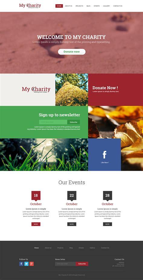 Charity Website Template Psd Free Web Templates 187 Css Author Charity Web Templates