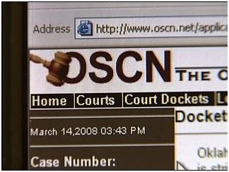 Courts Search Oscn Homepage Court Dockets Oscn Net Oklahoma Court Records