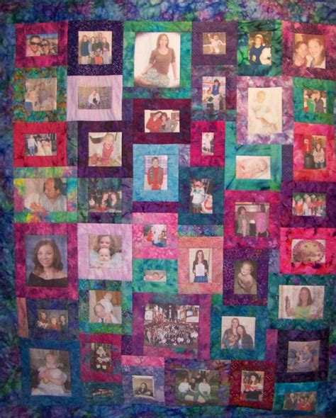 Family Picture Quilt by A Family Quilt Quilts