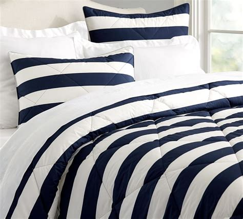blue and white striped comforter blue and white rugby stripe bedding rug designs