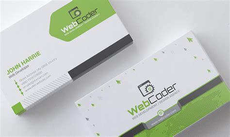business card design website template business card design for web design and developer psd