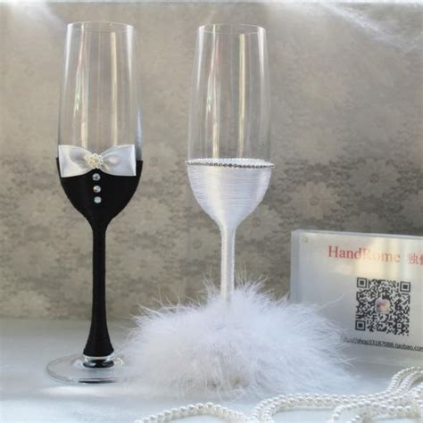 Handcrafted Wine Glasses - 100 wedding glass decoration 451 best chic wedding