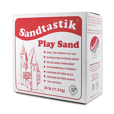 sandtastik play sand 25 lb sparkling white pack of 2 by