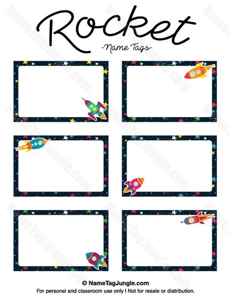 rocket card template free printable rocket name tags the template can also be