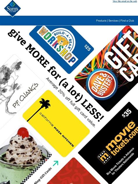 Sam S Club Extreme Value Gift Cards - sam s club bigger than big new extreme value gift cards for every occasion milled