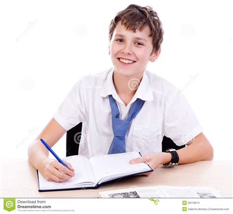 Student At Desk by Student At Desk Stock Images Image 28118614