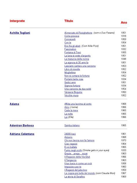 rosse testo e accordi canzoni italiane tradotte in portoghese con link per audio