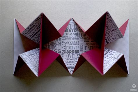 Origami For Cards - origami expanding card larajrussell