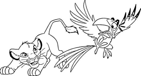 lion king zazu coloring pages simba coloring page picture super pictures 187 coloring pages