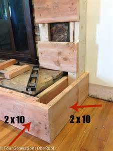 how to build a raised fireplace hearth hearths on