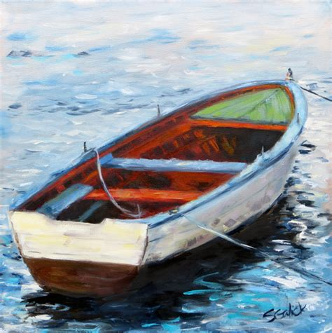 row boat new new painting quot west coast row boat quot susan galick fine art