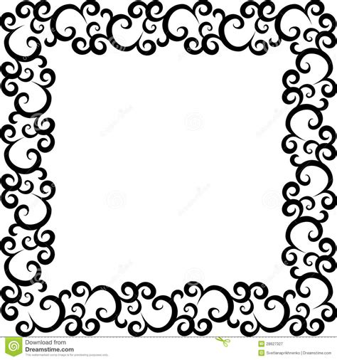 pattern with frame pattern frame royalty free stock photography image 28627327
