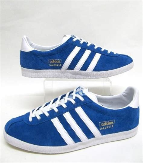 Sepatu Classic Adidas Gazelle Blue List White Original adidas vintage gazelle og trainers in royal blue white this trainer was a favourite among many