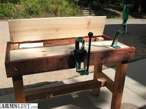 shotgun reloading bench armslist for sale trade trade reloading bench and 44