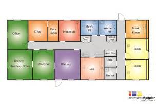 Clinic Floor Plan by Available Temporary Or Permament Modular Healthcare Buildings