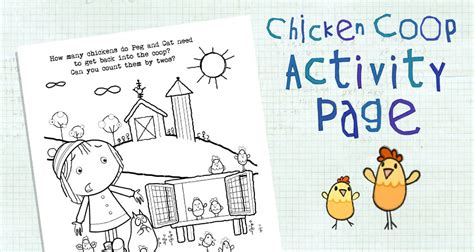 chicken coop coloring page activities peg cat pbs kids