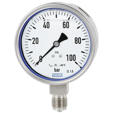 Wika Pressure 232 50 100 Range 600 Bar 2nd Scale Psi 244 metro tubo bourdon a 231 o inoxid 225 vel pg23lt wika brasil