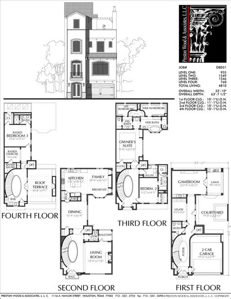 best townhouse floor plans 4 bedroom modern house design plans townhouse best at