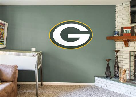 home decor green bay green bay packers logo wall decal shop fathead 174 for