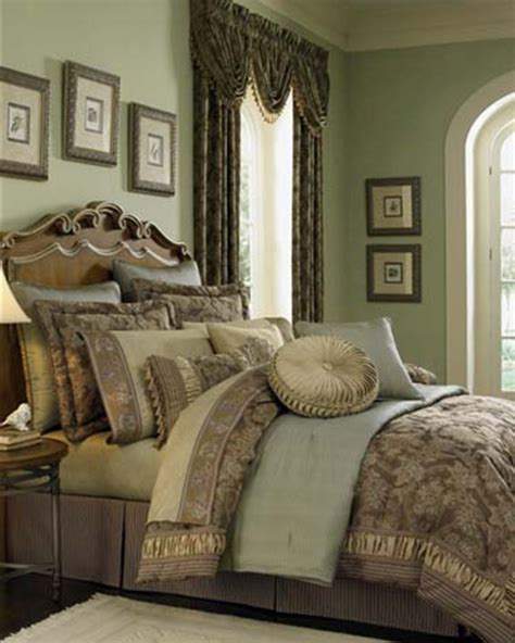 Croscill Townhouse Comforter by Marcella Taupe Bedding Ensemble By Croscill Townhouse Linens