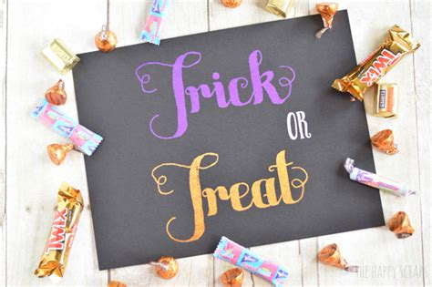 foiled trick or treat printable the happy scraps foiled trick or treat printable the happy scraps