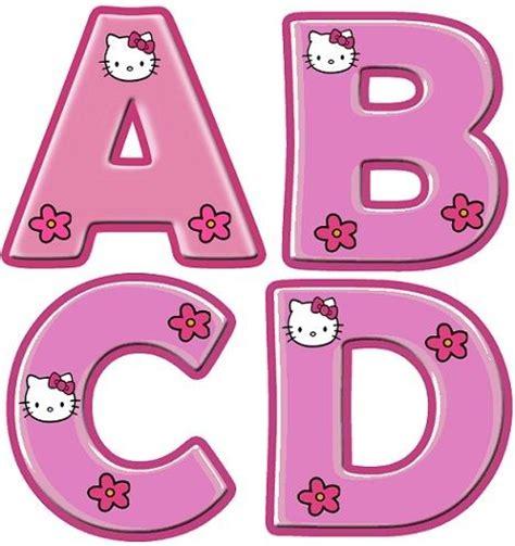 printable hello kitty letters letras para imprimir infantiles i love hello kitty