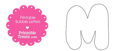 printable bubble letter m template printable treats com