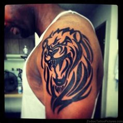 tribal lion shoulder tattoo 47 cool leo tattoos on shoulder