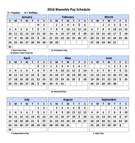 biweekly payroll calendar template business
