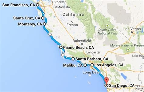 Pch Road Trip Map - 13 incredible stops on a pacific coast highway road trip highway map 13 and santa