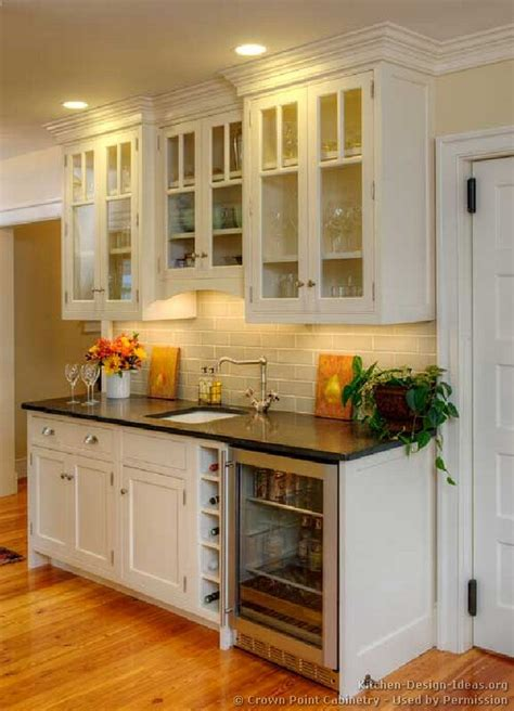 Bar Kitchen Cabinets by Pictures Of Kitchens Traditional White Kitchen