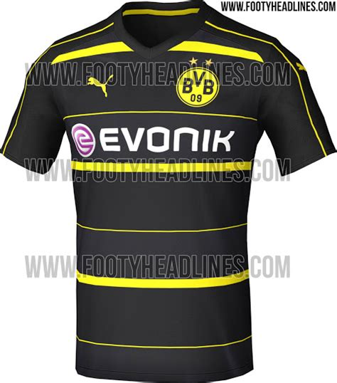 Jersey Dortmund Away 2016 2017 dortmund 16 17 away kit leaked footy headlines