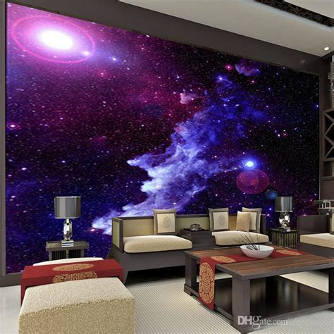 Galaxy Bedroom Wallpaper by Purple Galaxy Wallpaper Mural Photo Wall Decor Paper