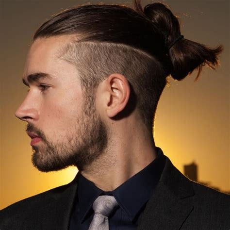 top knot hairstyle for men 50 popular hairstyles for men men hairstyles world
