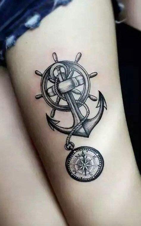 anchor tattoo chords best 25 anchor compass tattoo ideas on pinterest