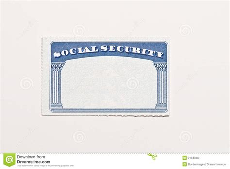 blank social security card stock image image of document