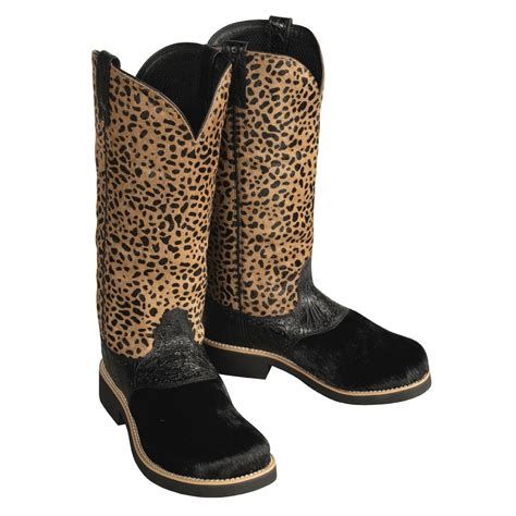 cheetah boots twisted x barn burner faux cheetah print boots for