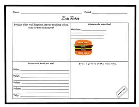 exit ticket template exit tickets template it resume cover letter sle