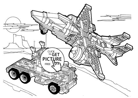 lego jet coloring pages lego truck and plane coloring page for girls printable