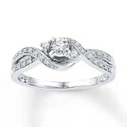 promise rings jared promise ring 1 6 ct tw cut sterling silver