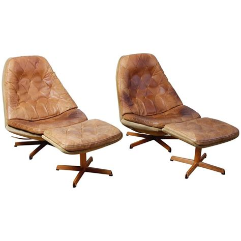 lounge chairs with ottomans pair of madsen and schubel lounge chairs with ottomans at