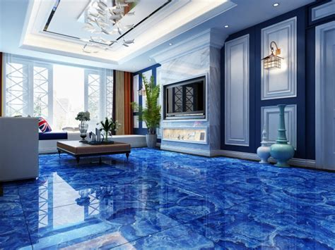 Construction Materials In China Blue Marble Glazed