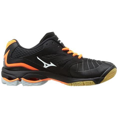 Mizuno Black mizuno wave lightning z3 mens court shoes black orange