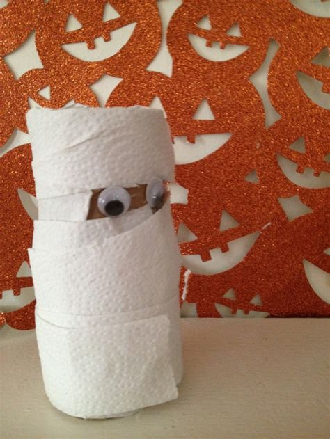 Mummy Toilet Paper Roll Craft - crafts for repurposed toilet paper roll mummy